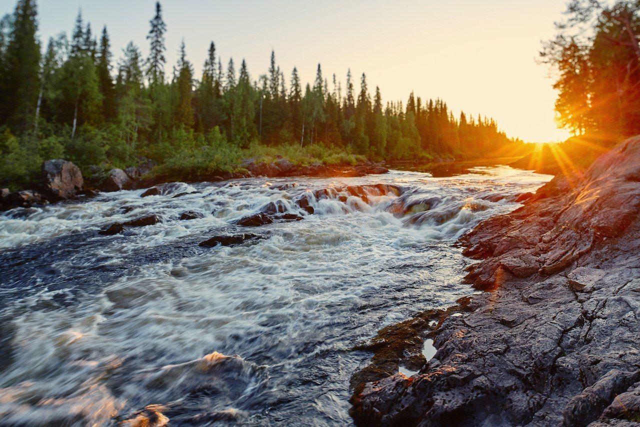 карелия река закат
